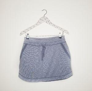 Athleta》 Blue Heathered Running Skirt